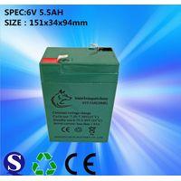 Sealed Lead Acid 6V5.5Ah Solar System, LED Street Light Battery