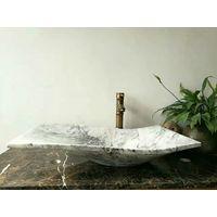 China Carrara White marble sinks, Carrara bath basin, white marble vessel sinks
