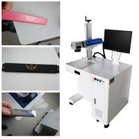 Kuntai 30W fiber laser engraving machine for engraving stainless steel parts