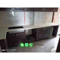 Foshan Weimeisi European marble kitchen tops walls backsplash carrara white marble kitchen worktop