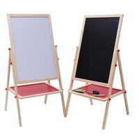 School kids wooden blackboard Foldable whiteboard easel with stand