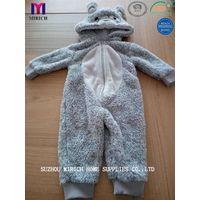 Printed Micro Mink Baby Hooded Bathrobe Kids Bathrobe