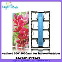 lightwell high refresh P3.91 light weight rental Aluminum 500mmx1000mm led display Video Panels