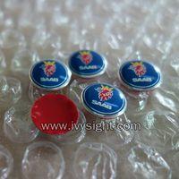 SAAB 9-3 Key Fob RemoteMetallic Badge Logo Sticker 12mm