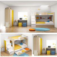 Durable mdf children bunk bed furniture set