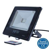 Slim RGB LED flood light dimmable/Slim colorful LED outdoor flood light/10W/20w/30w/50w/100w