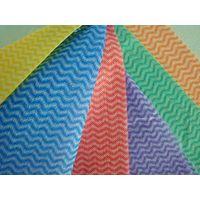 Orange mesh waved wood pulp laminated spunlace nonwoven fabric