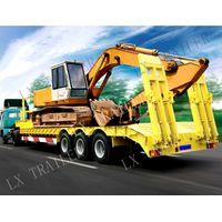 3 axle heavy duty low bed trailer