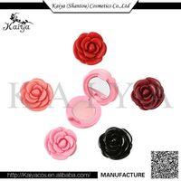 2017 Kaiya OEM Makeup New Style Cute Flower Lip Balm Container Moist Silky Natural Lip Balm