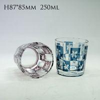 Edo kiliko glass cup unique design glass tumbler whisky cup wine glasses