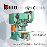 J23 10 ton machinery press machine