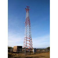 40M Triangular Lattice Telecommunication Tower,Design Wind Speed 150kmph, Antenna loading area 8SQM