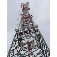 70M Self-supporting 4-legged Lattice Telecommunication Steel tower, Design Wind Speed 150kmph, 15SQM