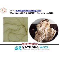 100% natural wool top roving