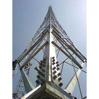 120M Self-supporting 4-legged Lattice Telecommunication tower,Design Wind Speed 160kmph