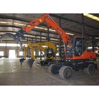 Shandong Wheel wood loader,log loader