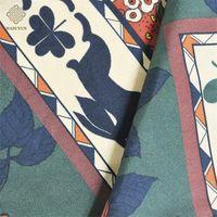 Silk digital double-sided printed scarf custom