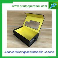 Custom Fancy Magnetic Box PVC Window Foldable Boxes Paper Gift Box