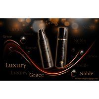 Luxury Classic Elegant Pure Black Airless Vacuum Lotion Bottle