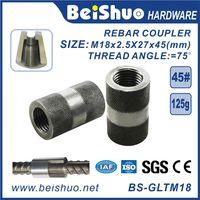 M18 Building Material Rebar Coupler Rebar Splicing Sleeve