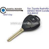 Toyota Corolla 2 Button black Remote Key fob G Chip 312Mhz