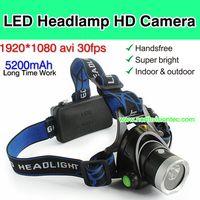 YT17, LED Headlamp Camera DVR, 1080P, 2pcs 18650 li-battery, Long Time Work,TF Card Max 32G