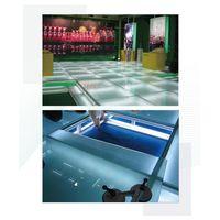 Adjustable platform flooring system exhibition display wooden stage OEM carpet design installation