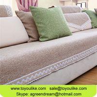 Plain Cotton Sectional Sofa Cover Sofa Slipcover Armrest Towel Cushion Cover