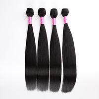 Indian virgin hair straight human hair virgin extension hair weft 8A 4 bundles deal