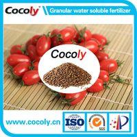 Cocoly organic fertilizer full solubility granular shape