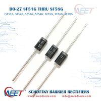 WEET DO-27 SF51G THRU SF58G Ultra-Fast Recovery Rectifiers