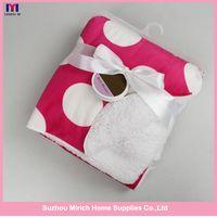 Hot sales pink printing newborn baby blankets