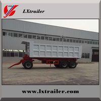 Tractor use hydraulic small dump tipping full trailer with drawbar