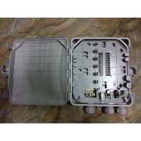 White Outdoor Fiber Optic Terminal Box , 8 Port PLC Splitter / FTTH Box