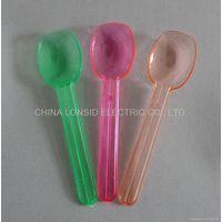 PS disposable Neon color plastic ice cream spoons (Item #ICS001)