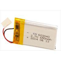 XW 603040 3.7V 650mAh Li-ion polymer battery