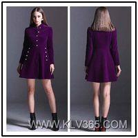 European Fashion Women Winter Coat Dress Wholesale