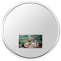 Round Chrome Finish Vanishing Television Mirror (Waterproof)