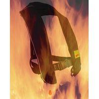 Fireproof inflatable life vest for welders