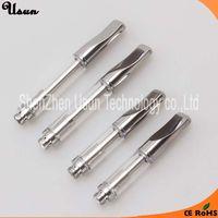 Factory wholesale no leakage 0.5 ml 1 ml A3 metal flat tip CBD hemp oil glass cartridge