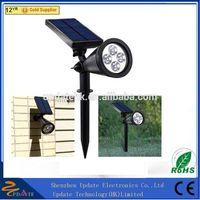 New 200LM Led Solar Stake Lightings Led Spotlight Led Solar Outdoor Garden Spike Spot