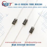 WEET DO-15 HER201 THRU HER208 R-6 HER601 THRU HER608High Efficient Rectifier