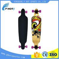 40 inch long board 6 layer Canadian Maple + 1 layer bamboo skate board off road skateboard