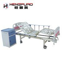 manual adjustable home care medical adjustable single beds with side rails