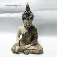 9 Inch Bronze Polystone Sitting Buddha Statue
