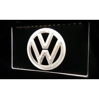 LS330-w Volkswagen-LED VW Car Logo Services Neon Light Sign