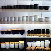 Glass candle holder glass candle jar black candle jar wholesale