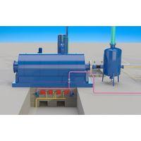 Waste tyre process pyrolysis plant