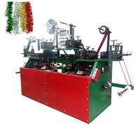 Tinsel garland making machine Christmas decoration ornaments machinery wired wreath machine
