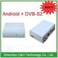 2012 Hot iptv android 4.0 TV box DVB-S2, 1080P iptv media player